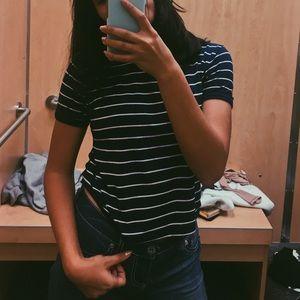 Striped navy t shirt